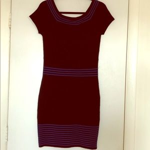 Max Studio Black & Blue Sweater Dress